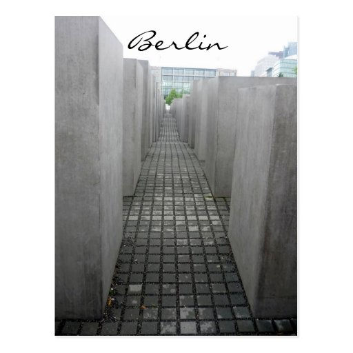 holocaust denkmal post card
