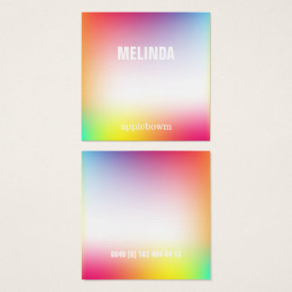 Holografic colors, bold, fancy, cool square business card