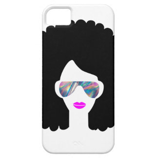 hologram afro girl iPhone 5 cases