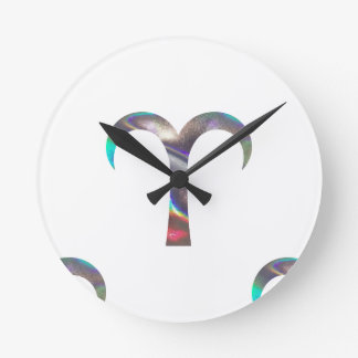 hologram Aries Round Clock