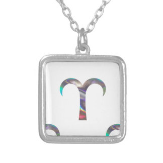 hologram Aries Silver Plated Necklace