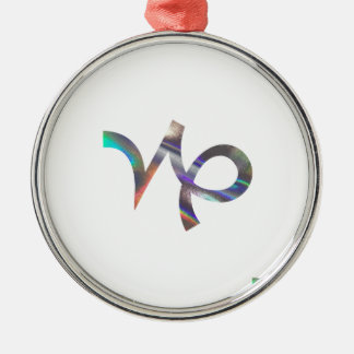hologram Capricorn Metal Ornament
