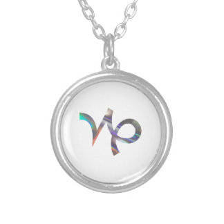 hologram Capricorn Silver Plated Necklace