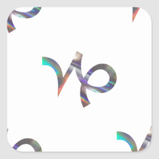 hologram Capricorn Square Sticker
