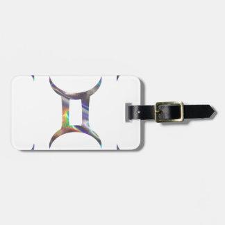 hologram Gemini Luggage Tag