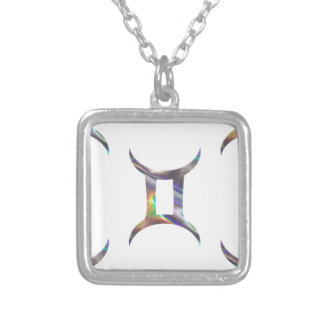 hologram Gemini Silver Plated Necklace