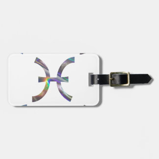 hologram Pisces Luggage Tag