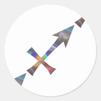 hologram Sagittarius Classic Round Sticker