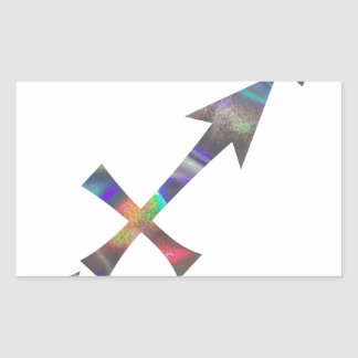 hologram Sagittarius Rectangular Sticker
