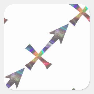 hologram Sagittarius Square Sticker