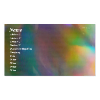 Holographic Background Pack Of Standard Business Cards