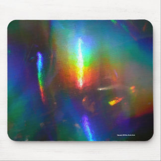 Holographic Flame Mouse Pad
