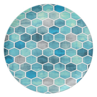 Holographic Honeycomb! Party Plate