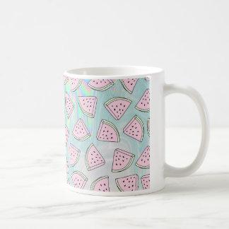 Holographic watermelon coffee mug