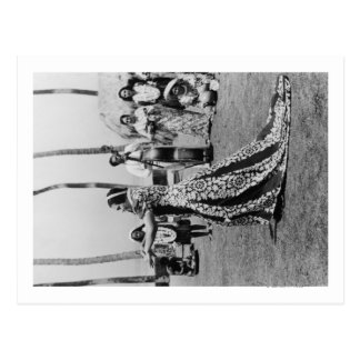 Holoku Hula Dancer with Band PhotographHawaii Postcard