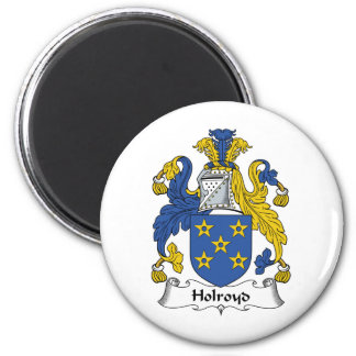 Holroyd Family Crest 6 Cm Round Magnet