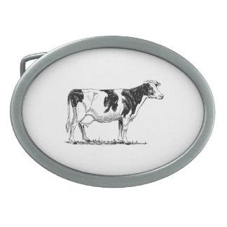 Holstein Cow Oval Belt Buckles