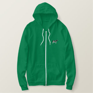 Holstein Cow Embroidered Hoodie