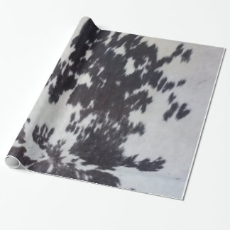 Holstein Cow Faux Leather Natural Hide Wrapping Paper