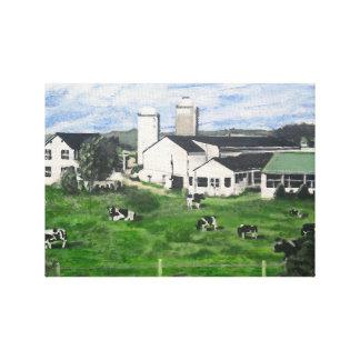 Holstein dairy canvas print