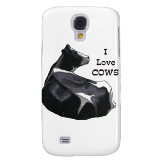 Holstein Dairy Cow: I Love Cows: Original Art Galaxy S4 Covers