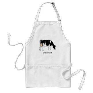 Holstein Dairy Cow, Line Drawing, Milk Standard Apron