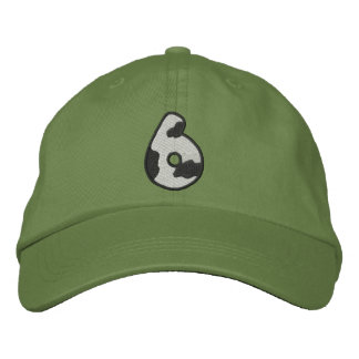 Holstein Number 6 Embroidered Baseball Cap