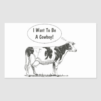 Holstein Thought Cow Customize It Rectangular Sticker