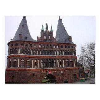 Holsten Gate -  Lubeck Germany Postcard