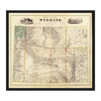 Holt's New Map of Wyoming (1883) Gallery Wrap Canvas