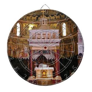 holy alter in church dartboard