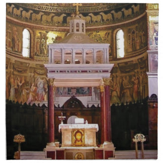 holy alter in church napkin