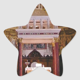 holy alter in church star sticker