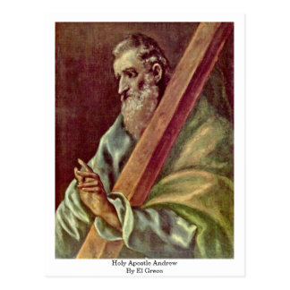 Holy Apostle Andrew By El Greco Postcard
