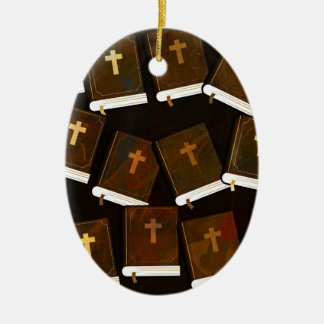 Holy Bible abstract ministry Ceramic Ornament