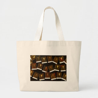 Holy Bible abstract ministry Large Tote Bag