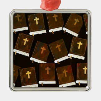 Holy Bible abstract ministry Metal Ornament