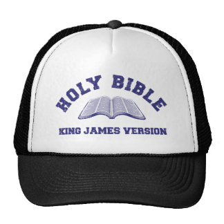 Holy Bible King James Version in blue distressed Cap