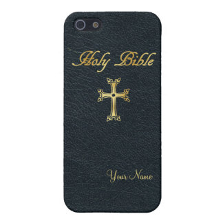 "Holy Bible ""Leather"" Customizable Case For The iPhone 5"