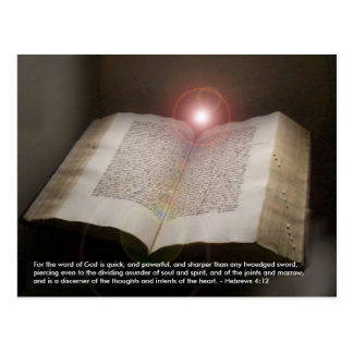 Holy Bible Torah Living Word of God postcard photo