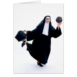 Holy_Bowling Greeting Card