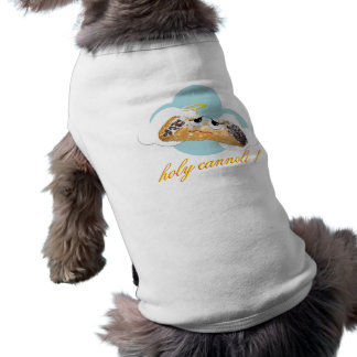 'holy cannoli !'  humorous parody dog t shirt