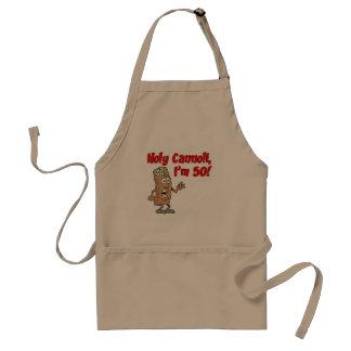 Holy Cannoli I'm 50 Funny Italian Pastry Cartoon Standard Apron