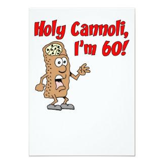 Holy Cannoli I'm 60 Invite