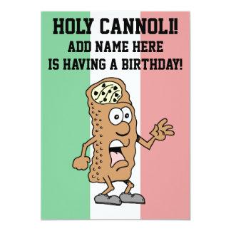 Holy Cannoli Italian Flag of Italy Birthday Card