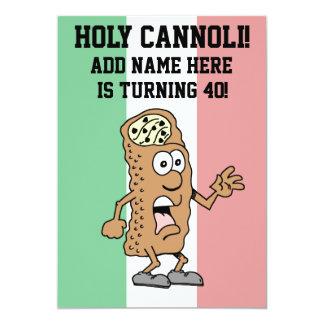 Holy Cannoli Italian Turning 40 Flag of Italy Card