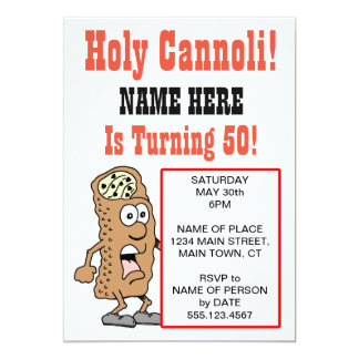 Holy Cannoli Turning 50 Party Invitation