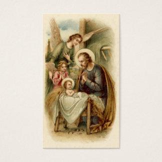 Holy Cards (Blank/Custom): St. Joseph Nativity