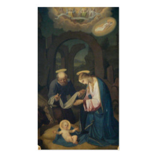Holy Cards (Scripture):  Birth of Christ Business Card Template