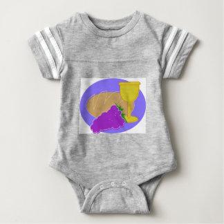Holy Communication Drawing Baby Bodysuit
